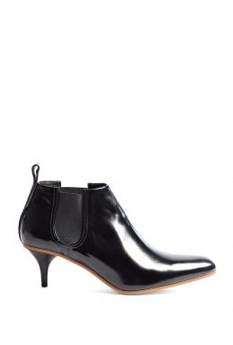 Palma Patent Leather Mid Heel Ankle Boot by Acne