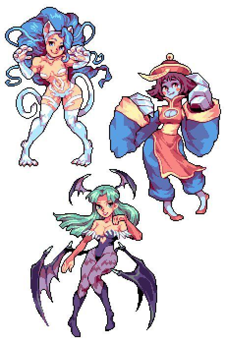 Darkstalkers Drawing - Game Art in 2019 - Pixel characters ...