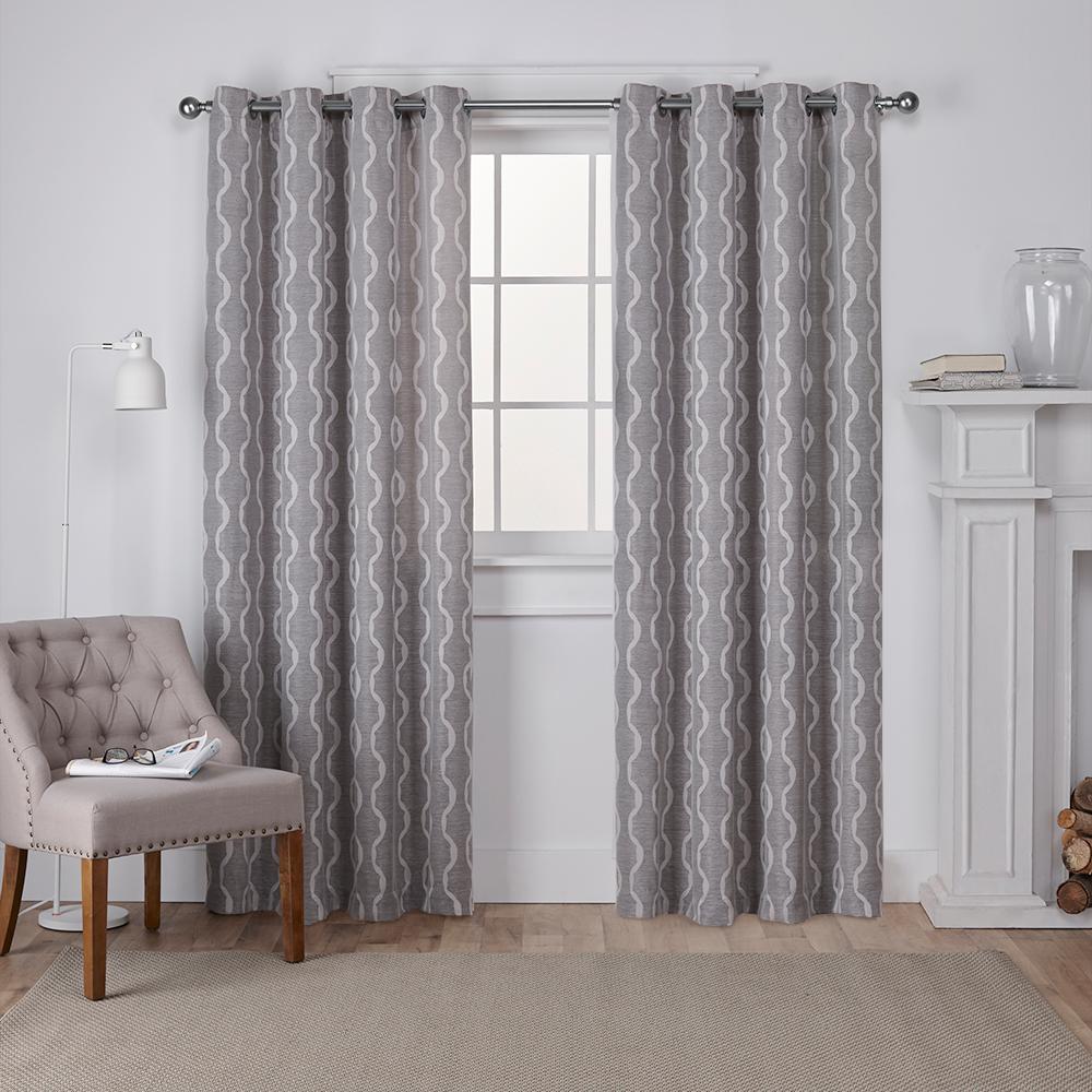 Amalgamated Textiles Baroque Ash Grey Textured Linen Look Jacquard