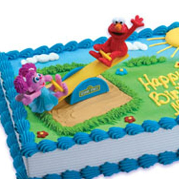 Seasaw Cake Topper Sesame Street 1st Birthday Pool Party