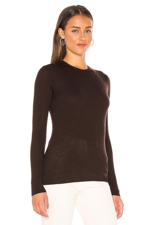 Theory Mirzi Sweater in Deep Brown
