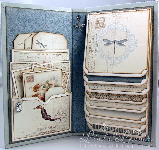 Swg Original Designs Vintage Swim Waterfall Folio Mini Albums Mini Albums Scrap Mini Scrapbook Albums