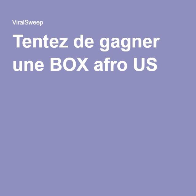Tentez de gagner une BOX afro US !