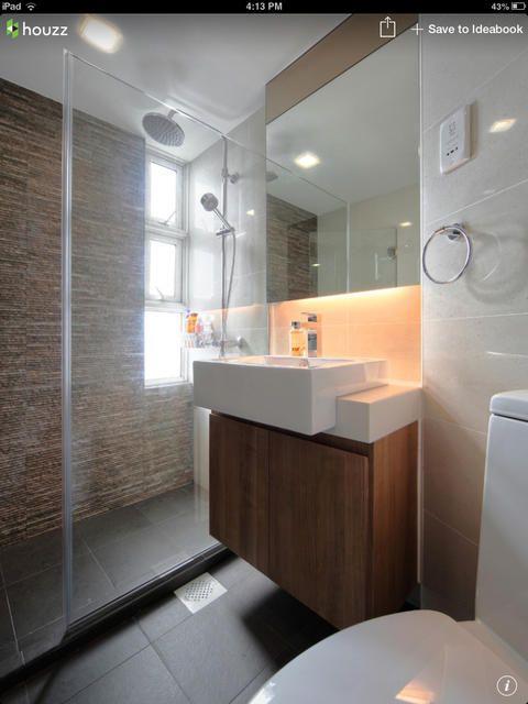 Modern Bathroom with oversized rectangular vessel sink ...