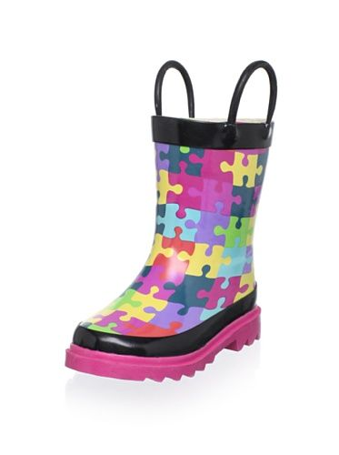 40% OFF Western Chief Kid's Puzzle Pieces Rain Boot (Toddler