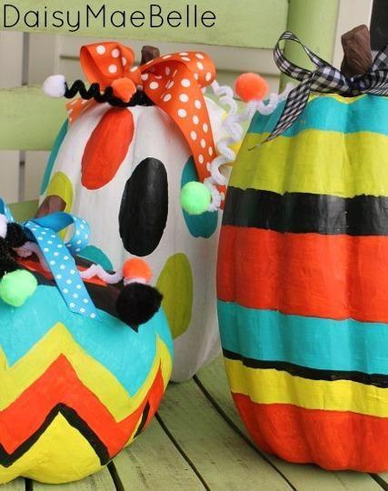 DIY Halloween  DIY Painted Pumpkins  DIY Halloween Decor