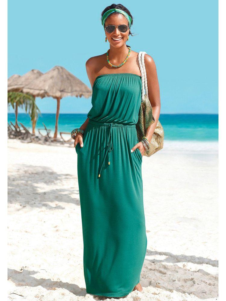 robe longue d 39 t vert meraude id ale pour les longues journ es sur la plage couleurs. Black Bedroom Furniture Sets. Home Design Ideas