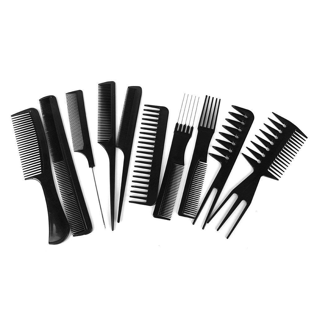 So Beauty 10pcs Salon Hairdresser Hair Styling Comb Set Hairdressing Barbers Brush Black Hope That You Enjoy The Picture Styling Comb Hair Comb Hair Tools
