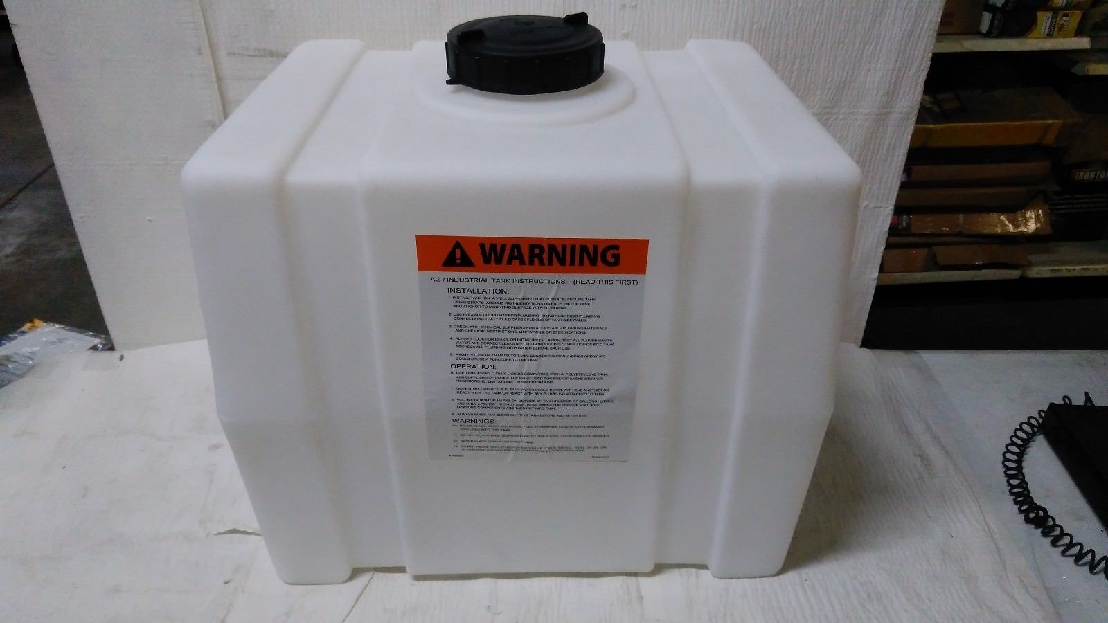 Water Pumps And Pressure Tanks 118851 Romotech Poly Storage Tank Square 30 Gallon Capacity Model 2390 Buy It Now O Storage Tank Pressure Tanks Storage