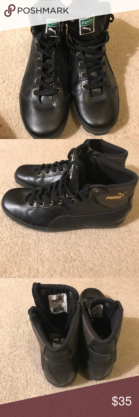 cb9121e0ab3d Puma sneaker wrestling Puma black wrestling shoes very good condition .size  10 very nice to wear out casual . puma Shoes