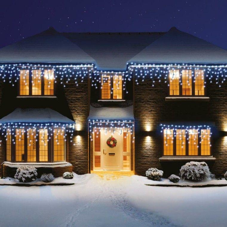 Iluminacion Exterior Decoracion Navidena Con Luces Luces De Navidad Exteriores Luces Navidad Decoracion Luces De Navidad