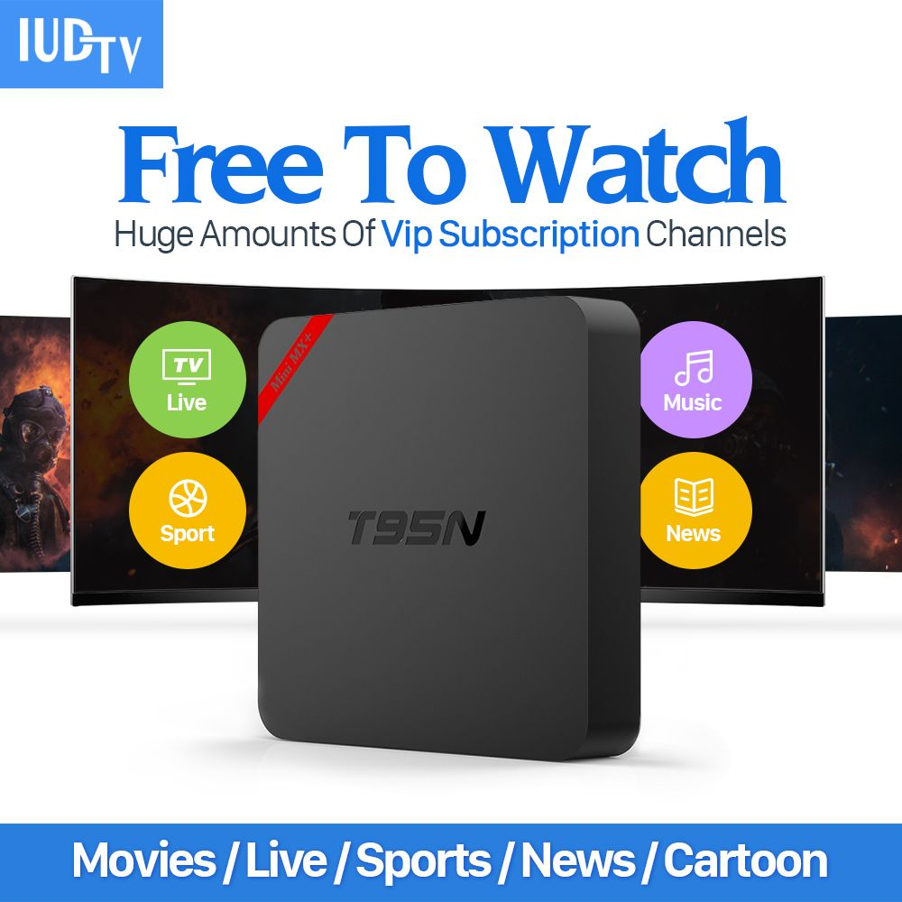Latest T95n Android Tv Box Quad Core Amlogic S905x 4k Wifi Smart Tv Box With Hd 1year Iptv Europe Italy Arabic Russia Channe Streaming Device Android Tv Box Tv