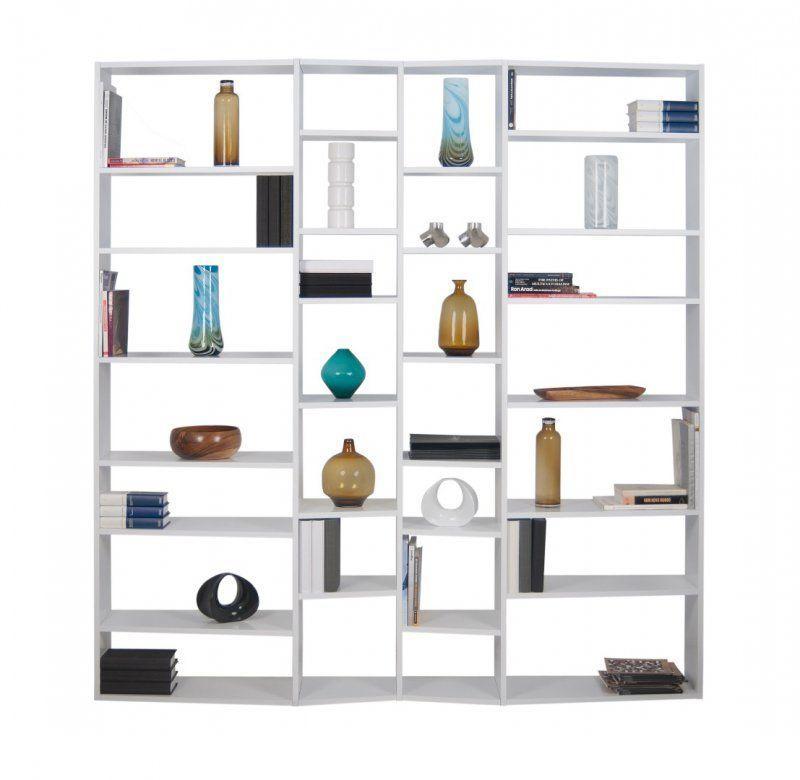 TemaHome VALSA 28 casiers bibliothèque étagère design laquée blanc ...