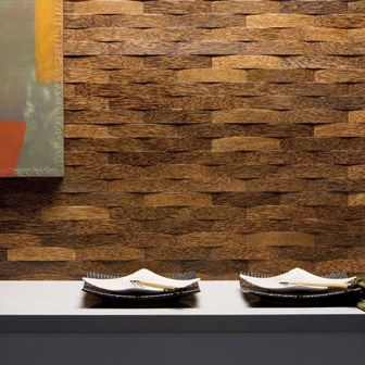 Woven Wood Wall This Is A Lot Easier With Cork Veneer