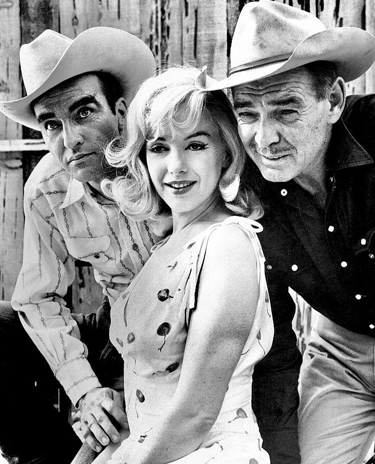 Montgomery Clift, Marilyn Monroe & Clark Gable The