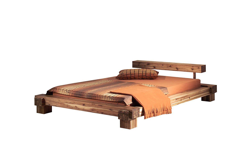 Modular Cal180 41 Bett Cali 180 X 200 Cm Akazie Massiv Natur Gewachst Amazon De Kuche Haushalt Bett Holzbett Massiv