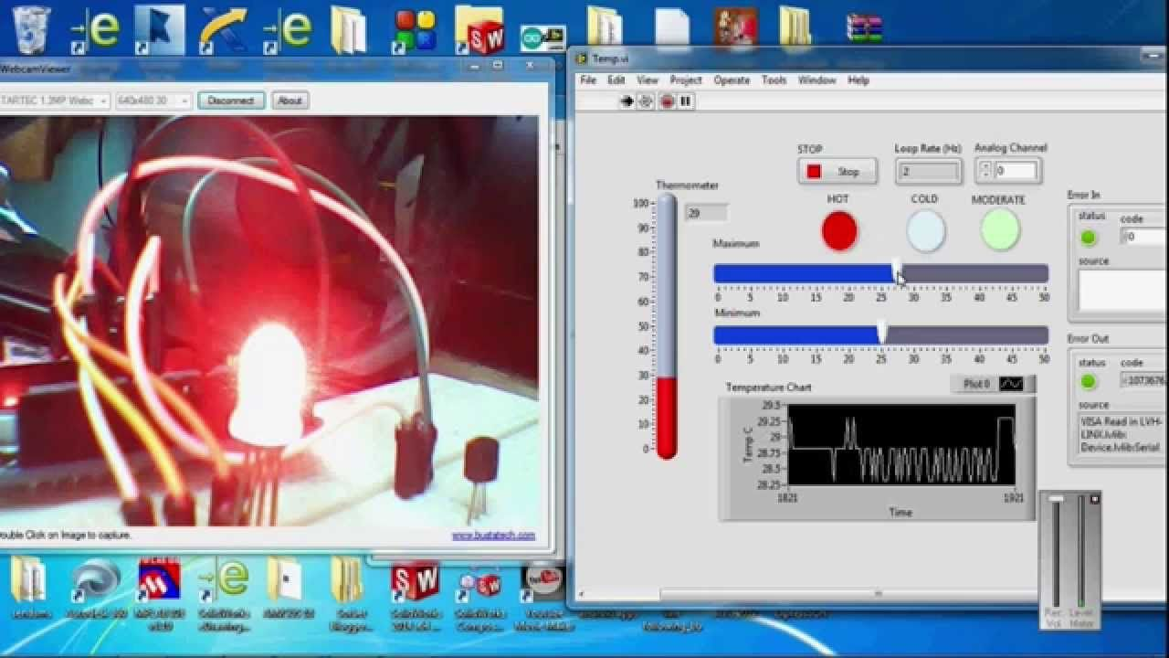 Temperature Controller Using Arduino Labview Lm35 Relay Switch