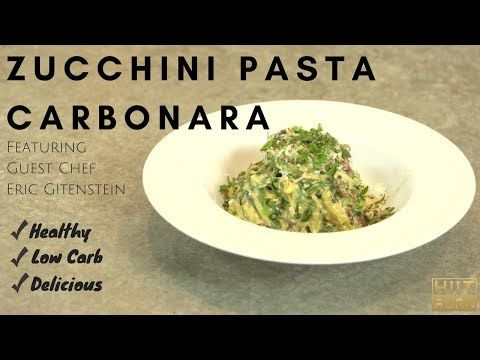 Zucchini pasta carbonara feat eric gitenstein hiitburn carb eric gitenstein hiitburn carb cycling recipes youtube forumfinder