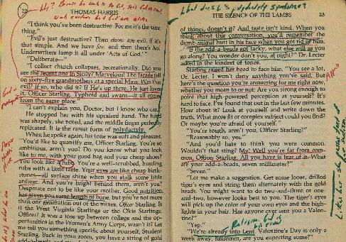 "David Foster Wallace's copy of Thomas Harris' ""The Silence"