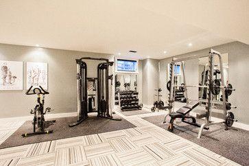 funky fresh basement  contemporary  home gym  toronto