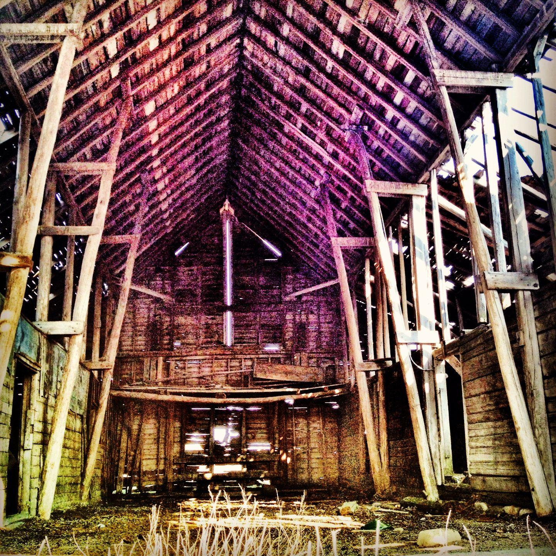 Inside Of An Abandoned Barn In Rural Minnesota