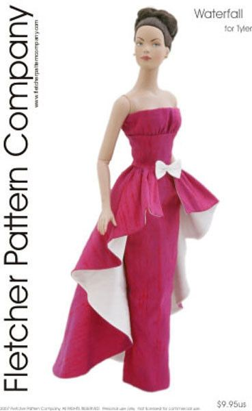 Waterfall Doll Clothes Sewing Pattern for Tyler Tonner