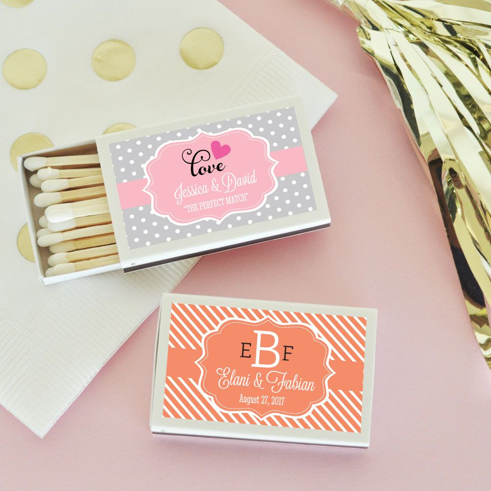 Personalized WEDDING Matchbox Favors | Custom Wedding Favors ...