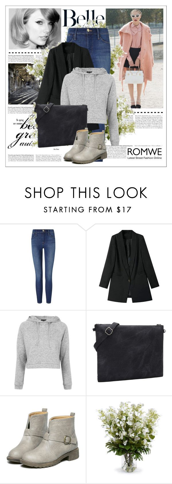 """""""ROMWE 3/9"""" by amelaa-16 ❤ liked on Polyvore featuring mode, Frame Denim, Topshop et New Growth Designs"""