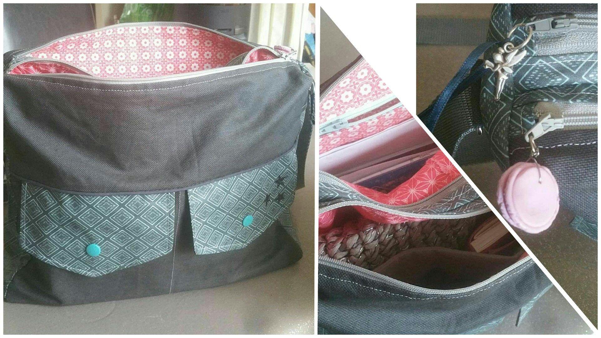 Besace zip-zip cousue par Soasig - Patron de couture Sacôtin