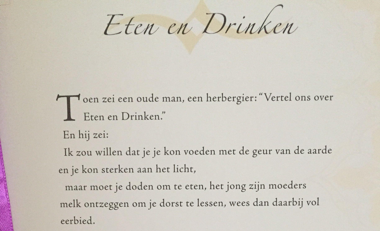 Respectvol eten en drinken.