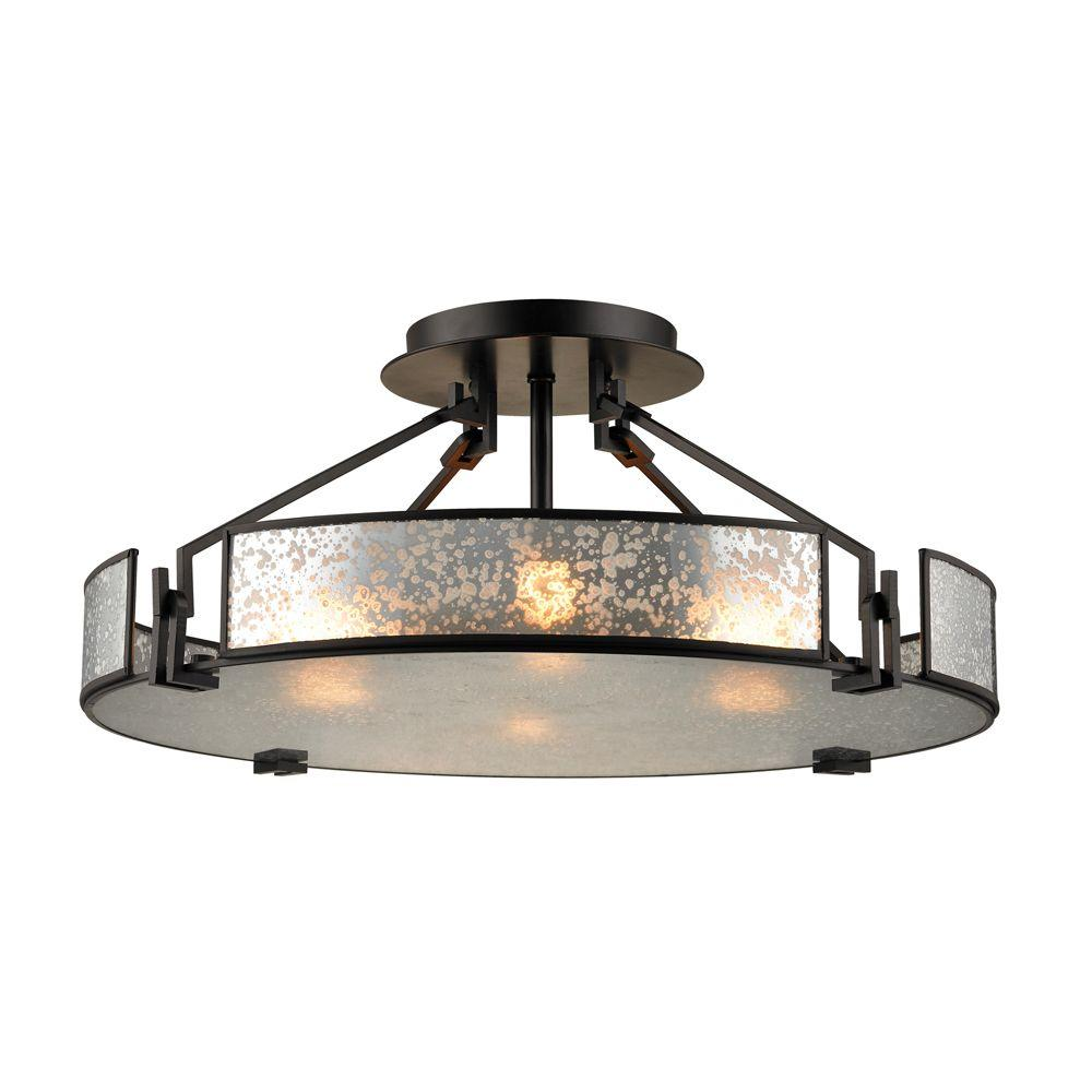 Lindhurst 4 Light Oil Rubbed Bronze Semi Flush Mount Tn 13074 The Home Depot Elk Lighting Flush Ceiling Lights Semi Flush Ceiling Lights