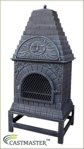Great Castmaster Outdoor Garden Cast Iron Pizza Oven Chiminea, Large, Xl U0026 Xl Plus