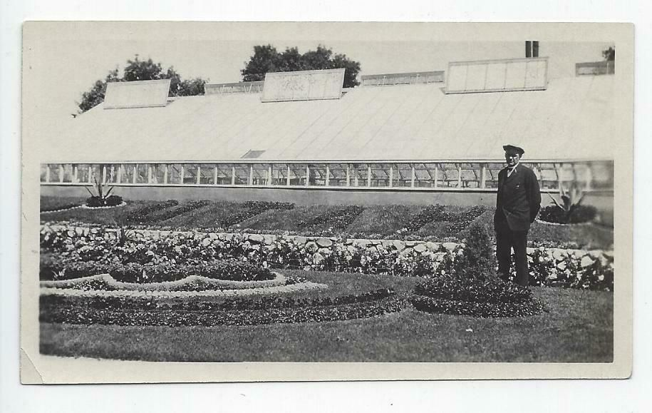 1920s Photo Man By The Word Utah In Landscape Near Greenhouse