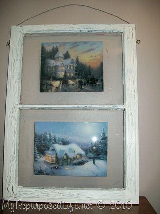 My Repurposed Life Thomas Kinkade Decoupaged Window Crafty