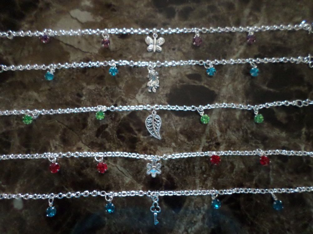bracelets ebay ankle on silver anklet pin foot anklets cz solid fine sterling only plumeria pinterest cuts now flower it chain diamond buy
