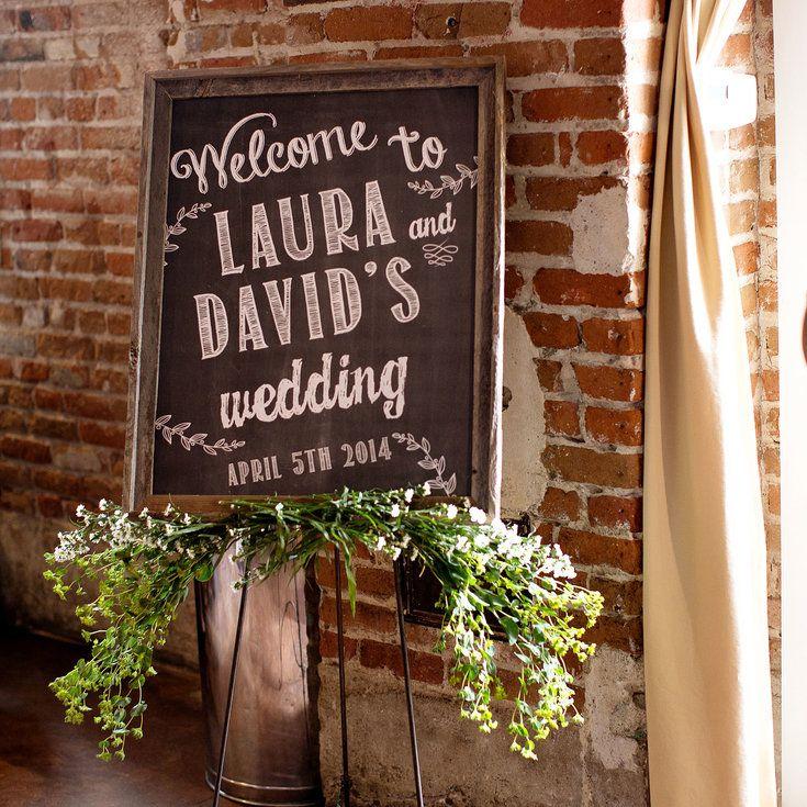 diy chalkboard wedding welcome sign
