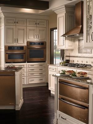 bronze kitchen appliances jk cabinets jenn air oiled bronz finished awesome interior design