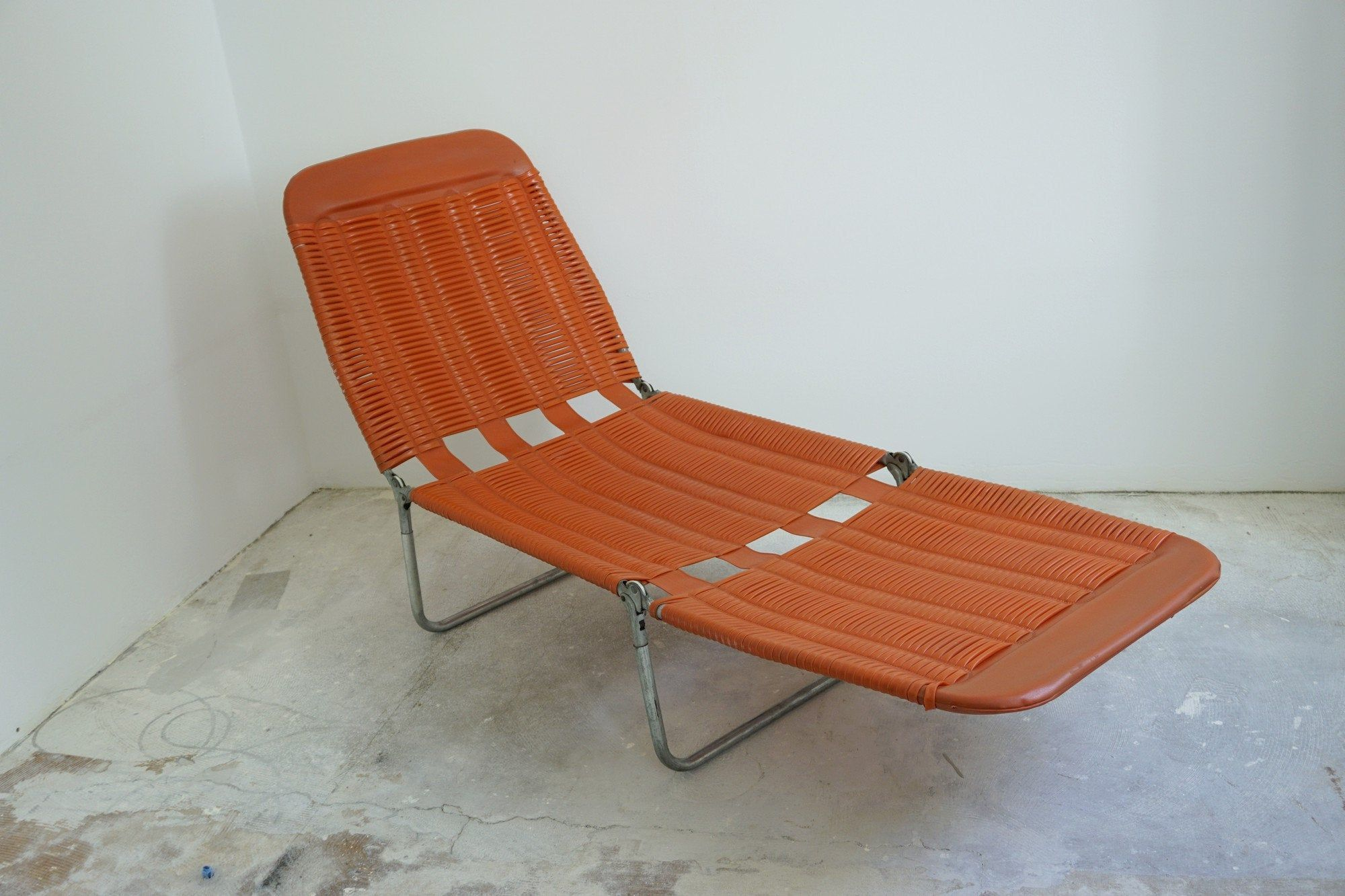 Vintage Folding Patio Chair Deck Chair Outdoor Sunbed
