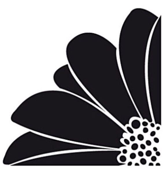 Large Flower Corner Durable Mylar