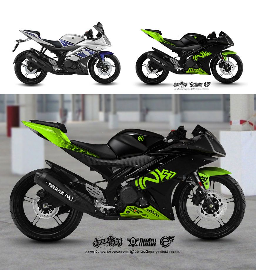 Bike stickers design for r15 - Yamaha R15