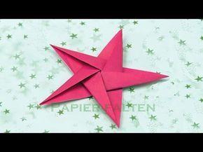 basteln zu Weihnachten: Sterne basteln - Origami Sterne falten