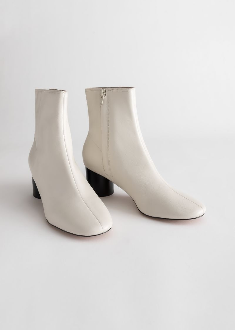 Leather Round Toe Ankle Boots | \u0026 Other