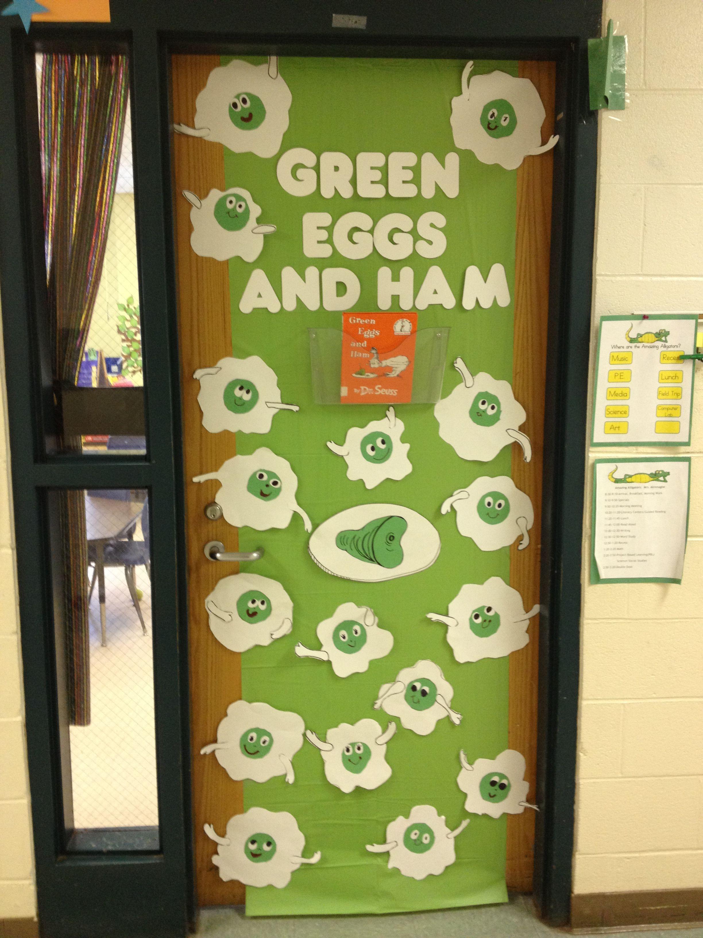Green Classroom Decor ~ Green eggs and ham door decoration diy crafts