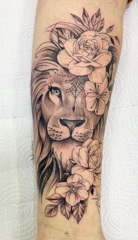 Photo of 70 weibliche und männliche Löwentattoos   TopTattoos – Stylekleidung.com Malika Gislason #flowertattoos – flower tattoos designs Flower Tattoo Designs #flowertattoos – flower tattoos