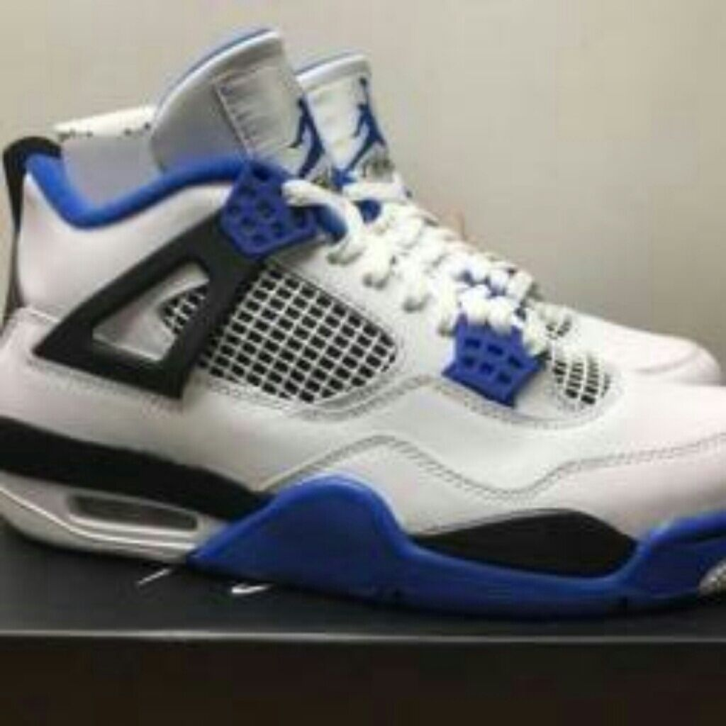 outlet store a33c6 1cdbf Jordan Shoes | Motorsport 4s | Color: Blue/White | Size: 9.5 ...