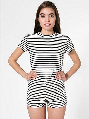 a3cc5efe726 American Apparel - Stripe T-Shirt Romper $45.00 | Clothing | Rompers ...