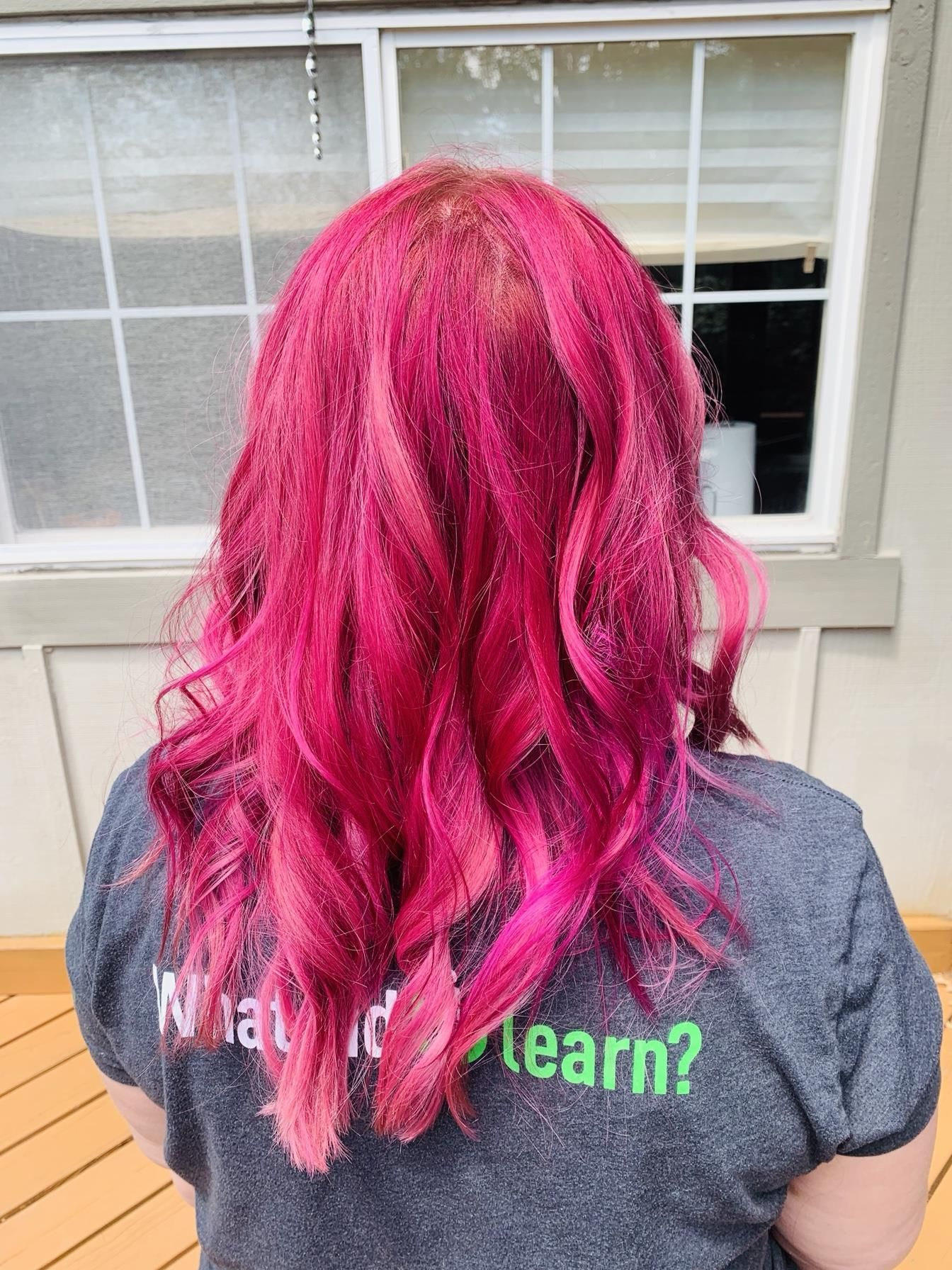 Color Correction 300 Magenta With Bubblegum Highlights Hair