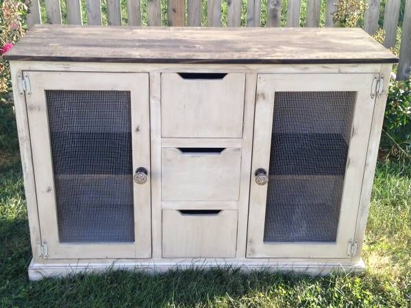 Shabby Chic/Distressed Console/Buffet