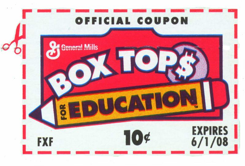 Pin by Loretta Achuff on Box Tops for Edu Box tops, Tops, Box