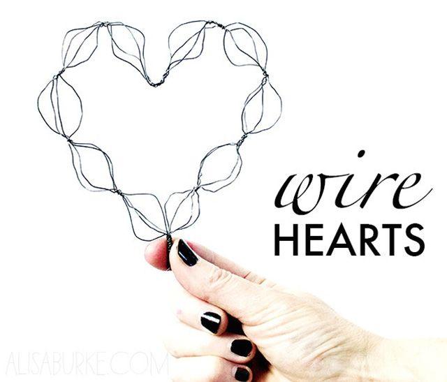 alisaburke: wire hearts